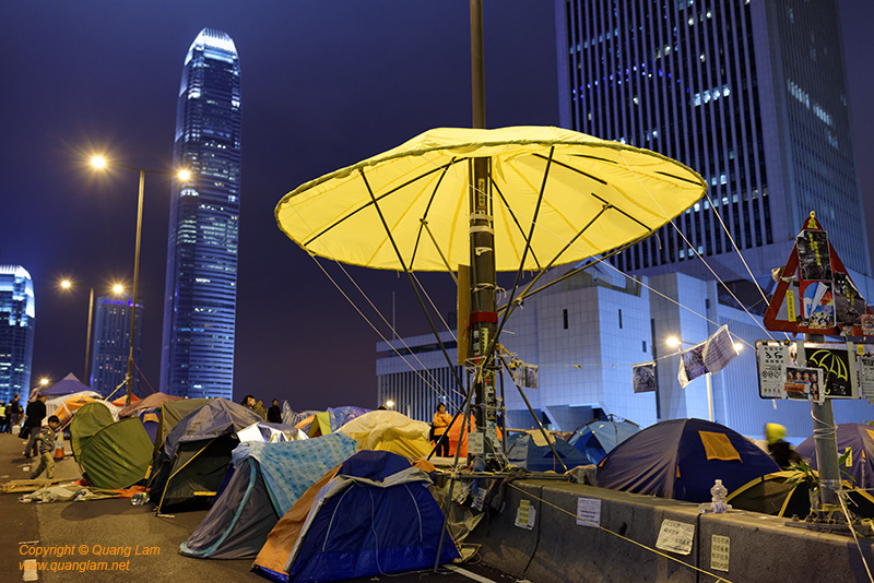 Umbrella Sign - International Finance Centre Tower