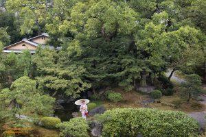 Kimono in Gion Garden